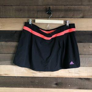 Adidas Black Athletic Skirt with Shorts size XL